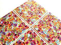 Owl Explosion Ceramic Tile Coasters