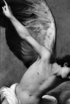 The Martyrdom of St. Cecilia Carlo Saraceni (Italy, Venice, active Rome, circa - Detail in black and white Seraph Angel, Male Angels, Maleficarum, I Believe In Angels, Ange Demon, Angels Among Us, Caravaggio, Secret Places, Illustration Art
