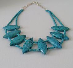 Chunky Turquoise Necklace Large Turquoise by LavishGemstone