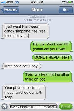 Auto Correct: Halloween/Twix/Donut