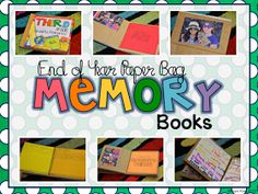2nd Grade Shenanigans: End of Year Paper Bag Memory Books