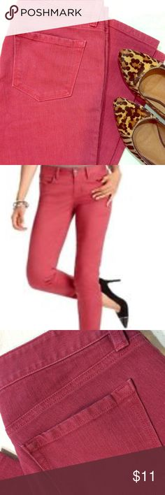 🍂🍁LOFT Modern Straight Jeans in Light Red In time for fall - these jeans are a perfect faded red color. Re-poshing because they're a smidge too small for me, but I received them in excellent used condition! No whiskering, no fading, no wear to the bottom! LOFT Jeans