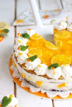 Eggless Lemon-Orange-White Chocolate Cake by Cintamani