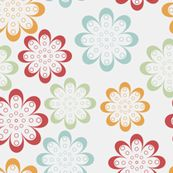 line flowers by suziedesign, Spoonflower digitally printed wallpaper
