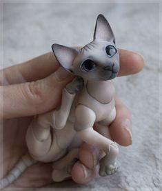 cat_sphinx_color_0005__ Cute Fantasy Creatures, Pottery Sculpture, Smart Doll, Anime Dolls, Fox Art, 3d Prints, Doll Repaint, Vinyl Toys, Anime Figures