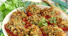 Pomidory po prowansalsku Fried Rice, Fries, Dinner, Ethnic Recipes, Food, Dining, Food Dinners, Essen, Meals