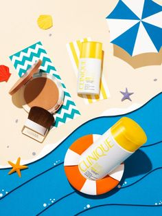 Summer in Clinique on Behance Still Life Photography, Beauty Photography, Creative Photography, Product Photography, Composition D'image, Dm Poster, Cosmetic Design, Advertising Design, Advertising Poster