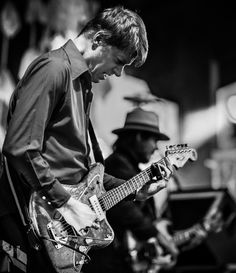 Nels Cline of Wilco playing a 1959 Fender Jazzmaster. Nels joined Wilco in 2004 and appears on their Sky Blue Sky, Kicking Television: Live In Chicago, Wilco (The Album), and The Whole Love albums.