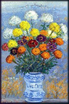Oil On Canvas, Vase, Artwork, Painting, Heaven, Impressionism, Work Of Art, Sky, Auguste Rodin Artwork
