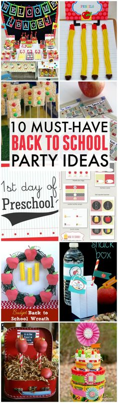 10 Must-Have Back To School Party Ideas Including Free Printables, Dessert Ideas, Decorations, and More! CatchMyParty.com