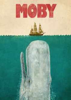 print on metal Movies & TV moby whale sea ocean nautical ship typography jaws parody humor