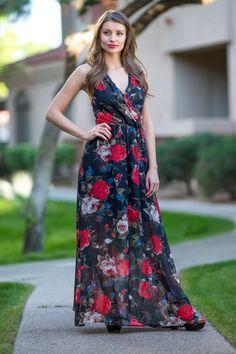 Gorgeous Floral Maxi Dress {Jane Deals}