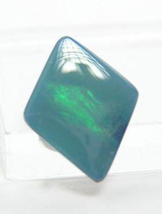 Blue Green Australian Opal Green Fire Doublet by FenderMinerals,