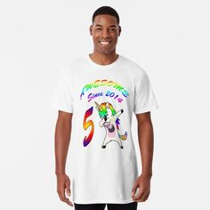"""""""Unicorn, 5 Years Young, Awesome Since 2014,Custom Gift Design"""" T-shirt by yakoo21 
