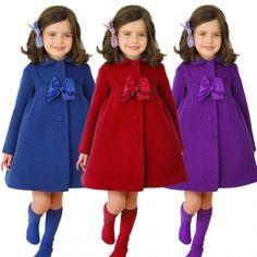 Winter Warm Baby Girl Coat Jacket Kids Girl Long Sleeve Coat