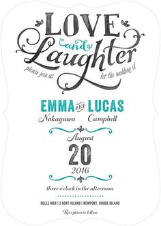 Cherished Chuckles - Signature White Textured Wedding Invitations - Lady Jae - Enchanted - Green : Front