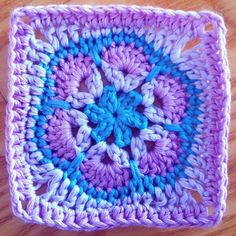 Yesterday someone in a Facebook crochet group asked how to square off a six petal African flower and of course I couldn't just leave it alone. This is just a quick little square off and it's only i...