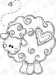 Loving Ewe Stamp Idea for applique square Cross Stitch Embroidery, Hand Embroidery, Embroidery Designs, Applique Patterns, Craft Patterns, Colouring Pages, Coloring Books, Whimsy Stamps, Bible Art