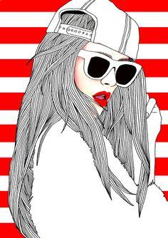 Conheça as ilustrações super cool e fashion da Hajin Bae | Beleza Criativa