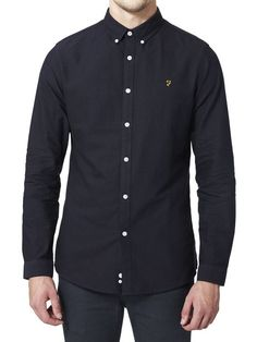 THE BREWER SLIM FIT SHIRT NAVY 34.75