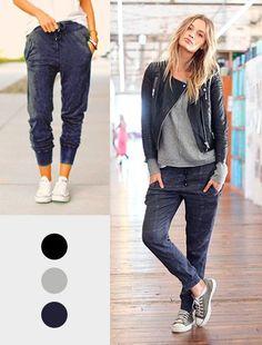 Esse modelo de calça é lindo e confortável pra caramba