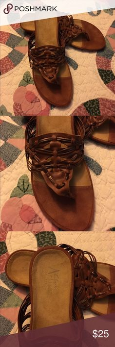 Ladies Clarks Artisan leather sandals size 10 Ladies nice leather Clarks Artisan sandals size 10 M. Awesome condition. Super comfortable and very stylish. Smoke free home. Thanks for the interest and God Bless Clarks Shoes Sandals