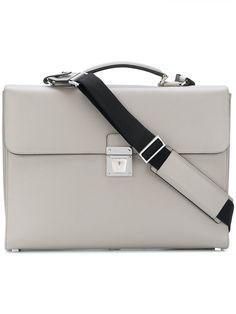 Serapian чемодан с застежкой на защелку Laptop Bag For Women, Men's Backpack, Grey Leather, Hermes Kelly, Jewelery, Women Wear, Backpacks, Briefcases, Bags