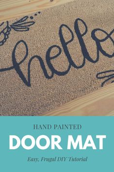 Looking for a custom door mat to grace your front door? Here's how to make your own DIY Door Mat! Painted Rug, Painted Doors, Do It Yourself Projects, Cool Diy Projects, Little House Living, Moms' Night Out, Front Door Mats, Easy Crafts For Kids, Simple Crafts
