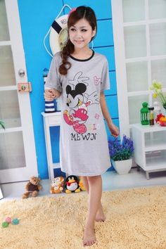 Summer Pajamas Short Sleeve with Mickey's Dancing Printing for Women on BuyTrends.com, only price $6.38