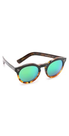 Illesteva Leonard II Half and Half Mirrored Sunglasses | SHOPBOP