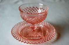 Miss America Pink Depression Glassware..I  have the dishes and cups...would love the whole set
