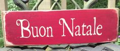 Buon Natale handpainted rustic sign by Amyinashell on Etsy, $15.00