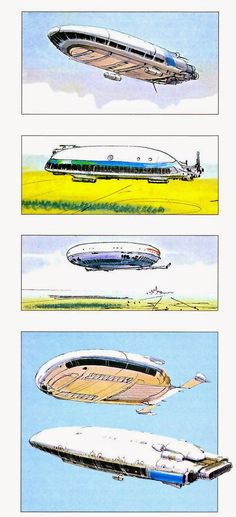 Unused planet and ship designs for Star Wars, by Ralph McQuarrie.