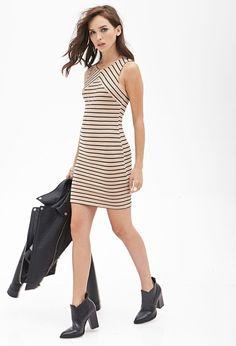 PEDIDOS SOLO POR ENCARGO Código: F-03 Ribbed Knit Striped Dress Color: Taupe/black Talla: S-M-L Precio: ₡17.000 ($31,48)  Información y consulta whatsapp 8963-3317, escribir al inbox o maya.boutique@hotmail.com.  Envíos a todo el país.