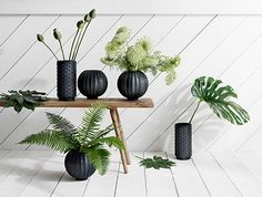 Decor, Interior And Exterior, Home Accessories, Black Vase, Green Inspiration, Deco, Exterior Design, Pretty Decor, Vase