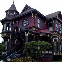 43 Fantastic Victorian Architecture Ideas The revived Gothic style wasn't restricted to architecture. Tidy lines and commercial products are characteristics of modern-day architecture, no matter how the design isn't restricted … Gothic House, Victorian Gothic, Gothic Mansion, Old Victorian Homes, Victorian Decor, Victorian House, Victorian Architecture, Interior Architecture, Amazing Architecture
