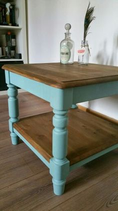 Duck egg rustic country coffee table.