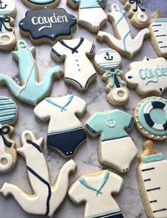 nautical theme baby shower cookies – sweets and sprinkles - nautical theme baby shower cookies – sweets and sprinkles - Girl Baby Shower Decorations, Boy Baby Shower Themes, Baby Boy Shower, Sailor Baby Showers, Anchor Baby Showers, Baby Boy Cookies, Baby Shower Cookies, Galletas Decoradas Baby Shower, Sugar Cookie Royal Icing