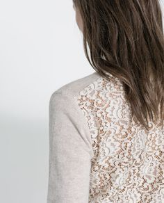 ZARA - WOMAN - SWEATER WITH LACE BACK €40