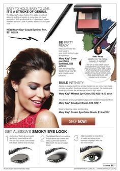 Eyeliner Pen, Smoky Eye, Mary Kay, Fashion Beauty, Skin Care, Makeup, Tips, Beauty Products, Simple