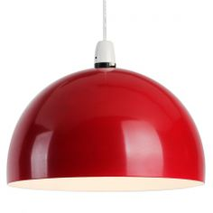 Curva Dome Ceiling Pendant Light Shade in Red A