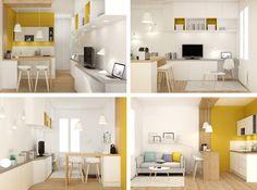 The Home Decor Guru – Interior Design For Bedrooms Condo Interior Design, Small Apartment Interior, Small Apartment Kitchen, Small Apartment Design, Condo Design, Studio Apartment Decorating, Small House Design, Deco Studio, Small House Decorating