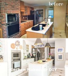 Home Renovation Diy cheap DIY kitchen renovation - See here how I renovated my outdated, kitchen on a crazy low budget and transformed it into a light and airy, boho-chic haven. Cheap Kitchen Makeover, Cheap Kitchen Remodel, Kitchen On A Budget, Diy On A Budget, Kitchen Makeovers, Kitchen Ideas, Kitchen Decor, Kitchen Designs, Kitchen Interior