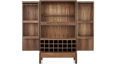 Victuals Walnut Bar Cabinet