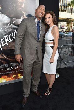 Dwayne Johnson Steps Out with Girlfriend at 'Hercules' Premiere Dwayne Johnson and Lauren Hashian