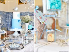 Charming details for this bird themed baptism party