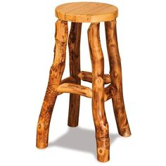 Amish Rustic Aspen Log Bar Stool ($204) ❤ liked on Polyvore featuring home, furniture, stools, barstools, aspen home furniture, log bar stools, aspen furniture, aspen log furniture and unfinished stool
