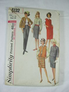 Vintage Sewing Pattern MAD MEN Style Boxy Retro Suit   by LavenderGardenCottag