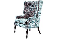 Like the shape (but not the fabric) of this wingback chair.   Davis Chair on OneKingsLane.com