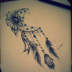 result for dream catcher + moon inside tattoos for men Trendy Tattoos, Small Tattoos, Tattoos For Guys, Tattoos For Women, Thigh Tattoos, Body Art Tattoos, Sleeve Tattoos, Tatoos, Female Arm Tattoos
